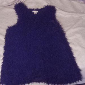 A fluffy vest